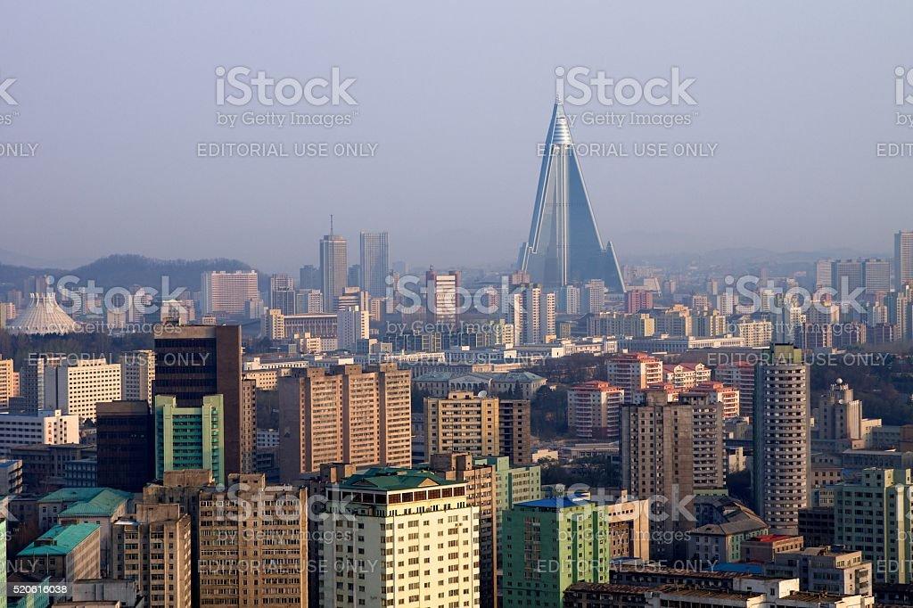 Pyongyang Skyline stock photo