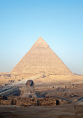 Pyramid and Sphinx at Giza Plateau