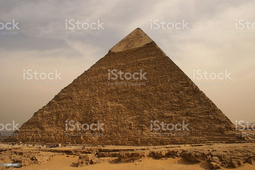 Pyramid at Giza Plateau, Cairo, Egypt royalty-free stock photo