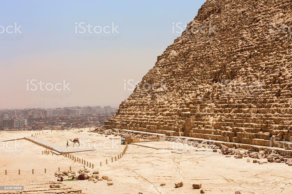 Pyramid Cheops Cairo stock photo