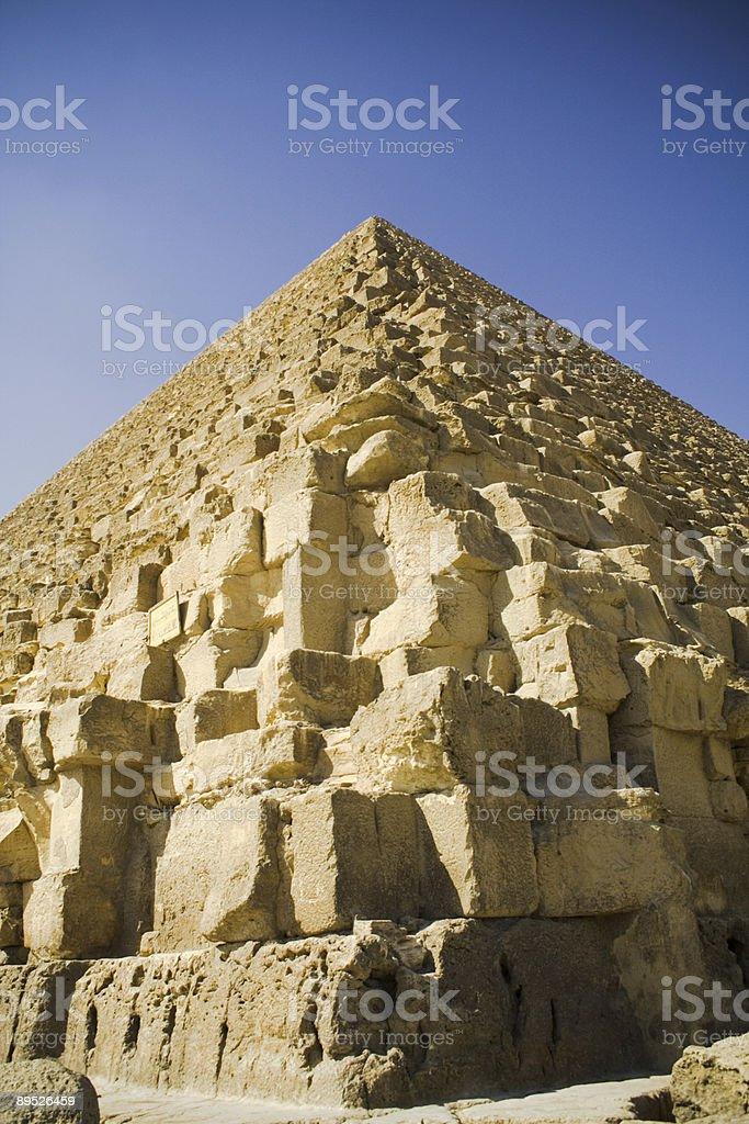 Pyramid corner royalty-free stock photo