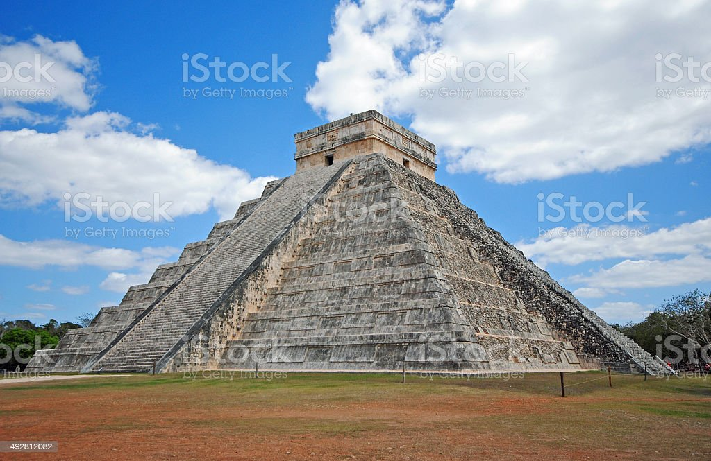 Pyramid El Castillo, Chichen Itza, Mexico stock photo