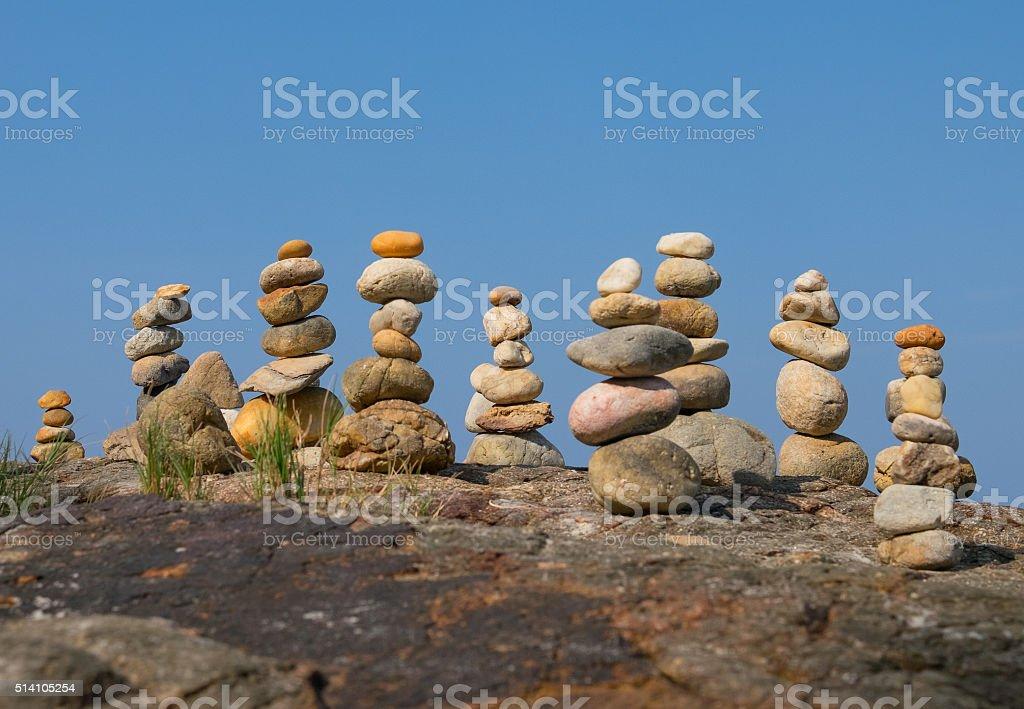 Pyramid from stones stock photo
