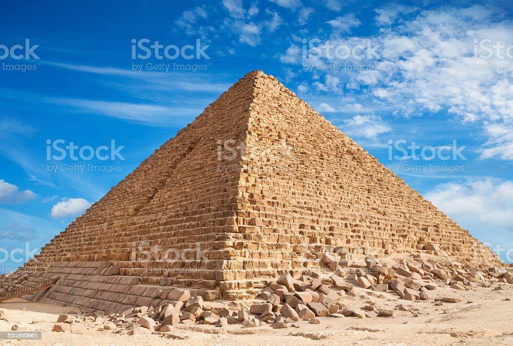 Pyramid, Giza stock photo
