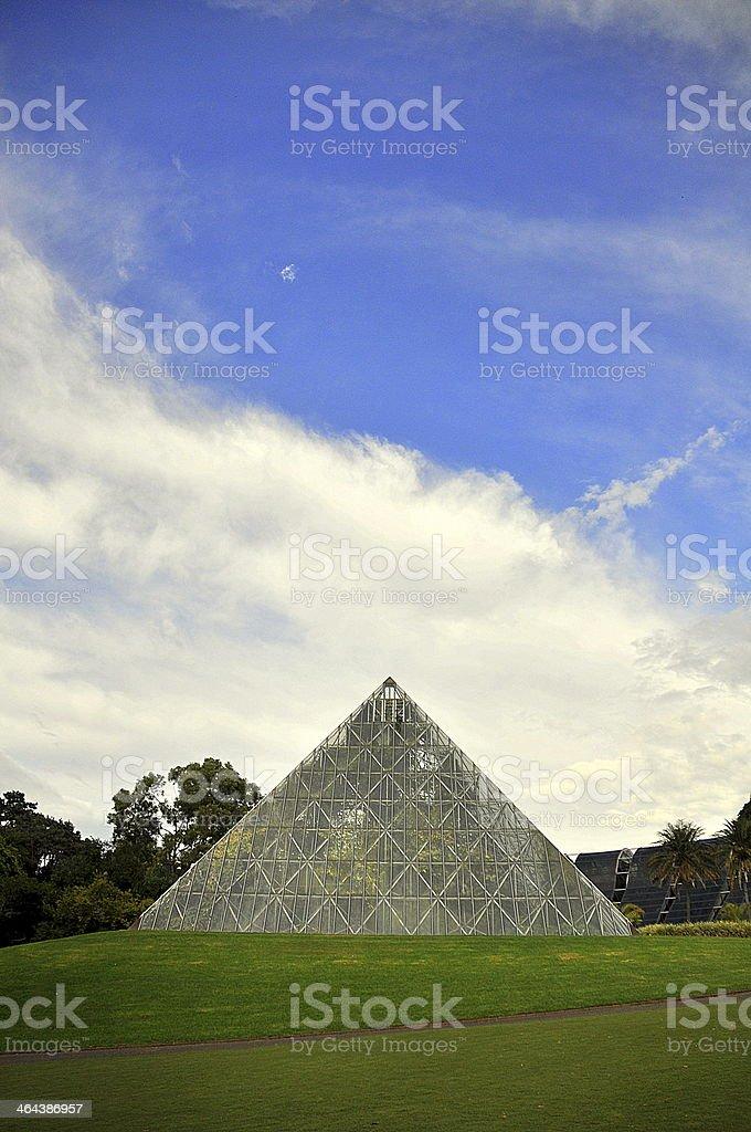 Pyramid Greenhouse royalty-free stock photo