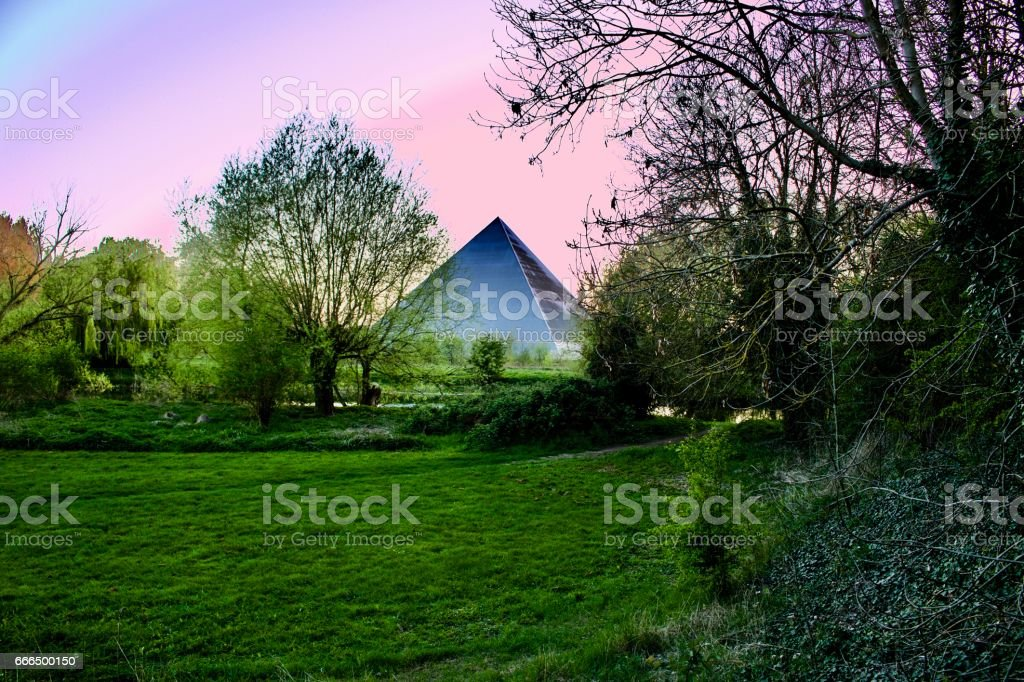 Pyramide in Bedford stock photo