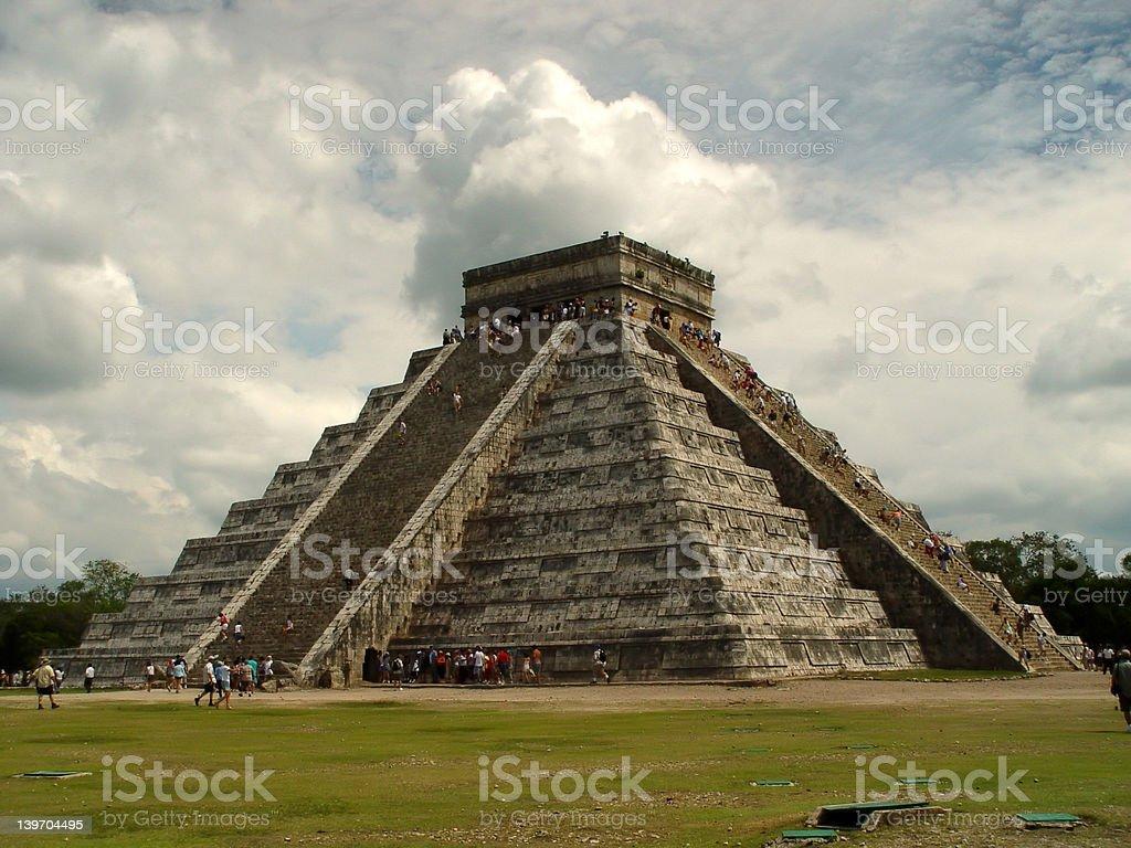 Pyramid in Chichen Itza stock photo