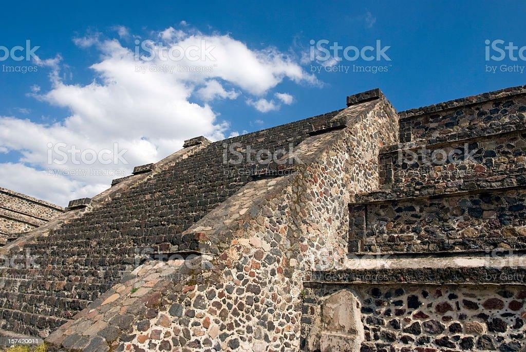 Pyramid in Teotihuacan stock photo