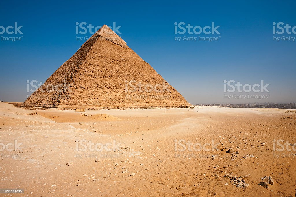 Pyramid Khafre Rear Cityscape Desert stock photo
