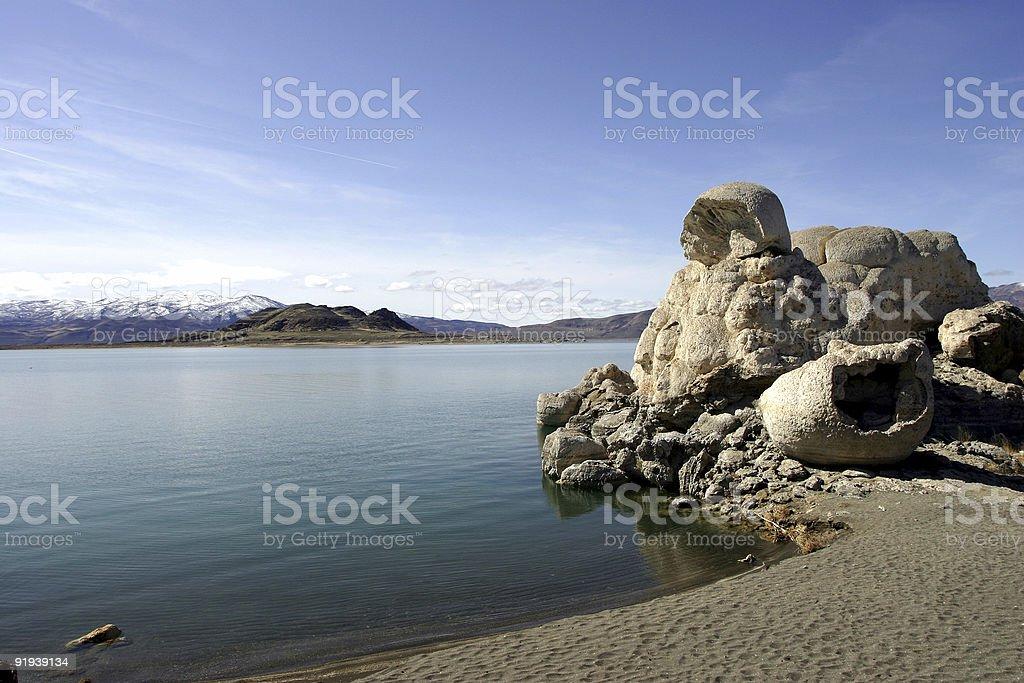 Pyramid Lake, Nevada royalty-free stock photo