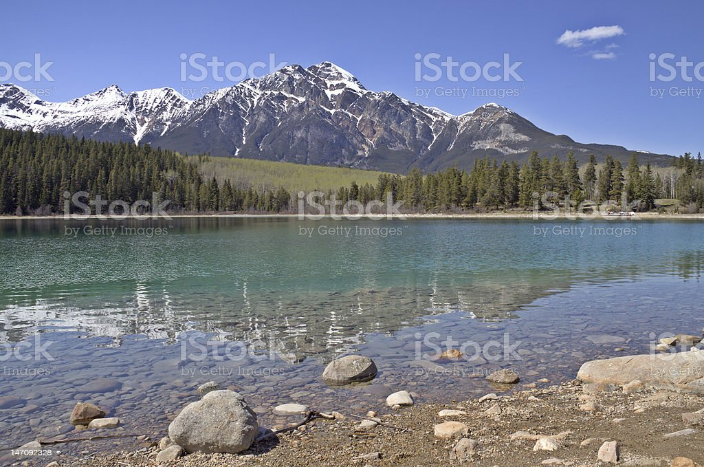 Pyramid Lake Reflection stock photo