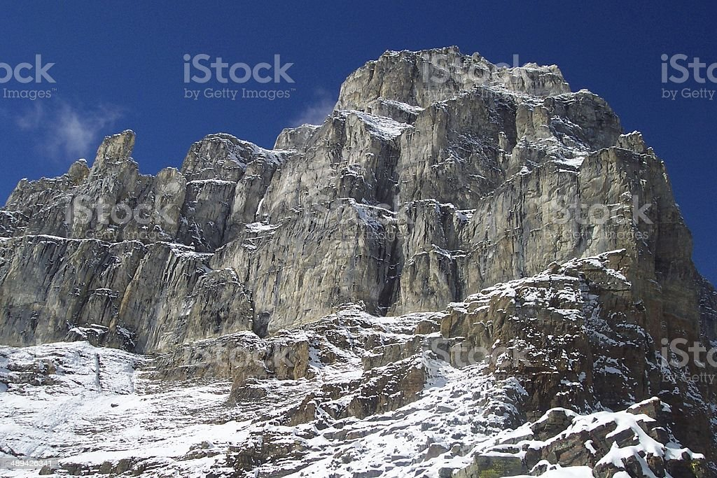 Pyramid Mountain - Banff National Park, Alberta stock photo