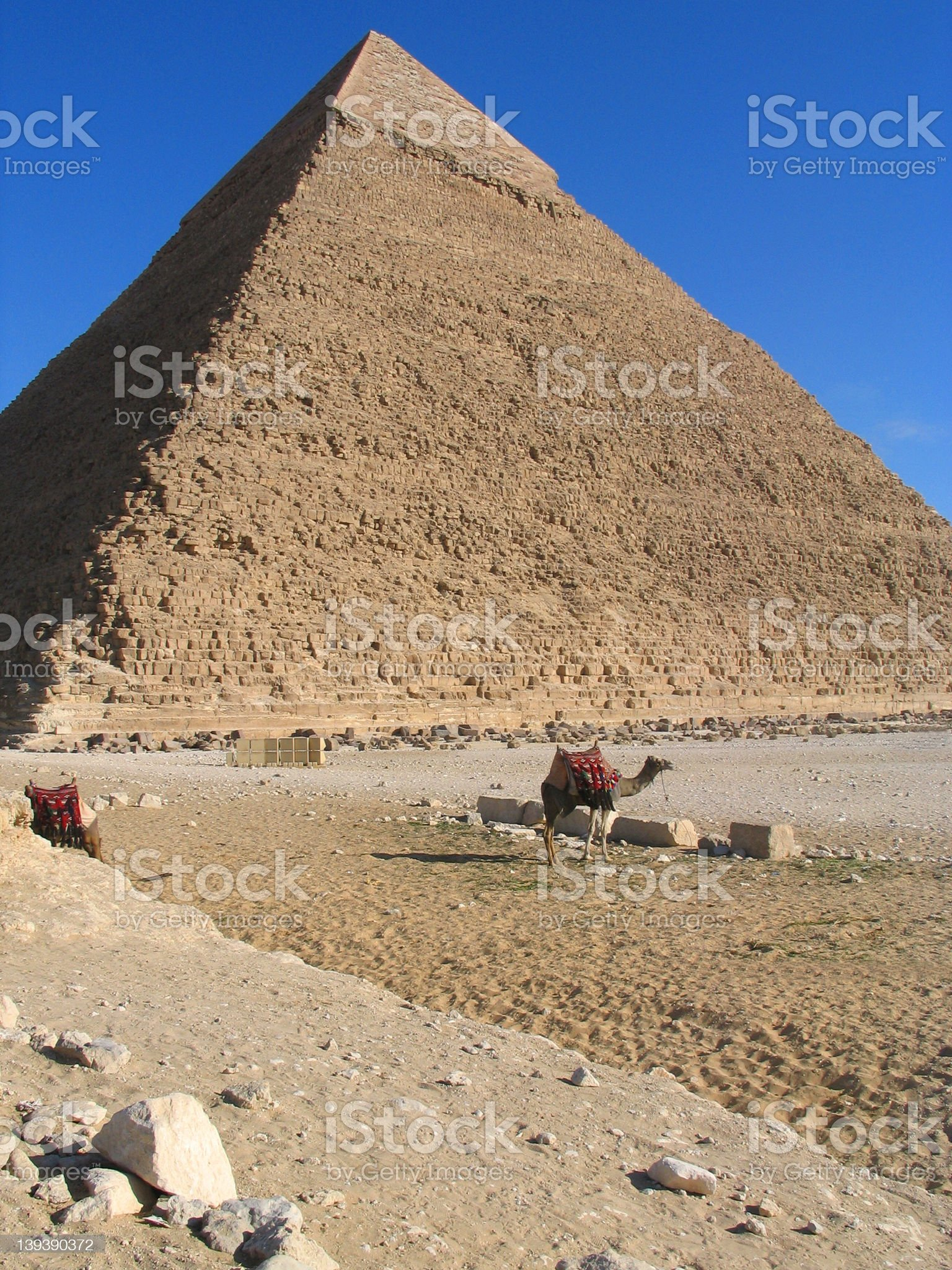 Pyramid of Chefren royalty-free stock photo
