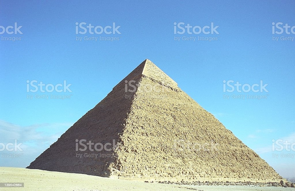 Pyramid of Chefren stock photo