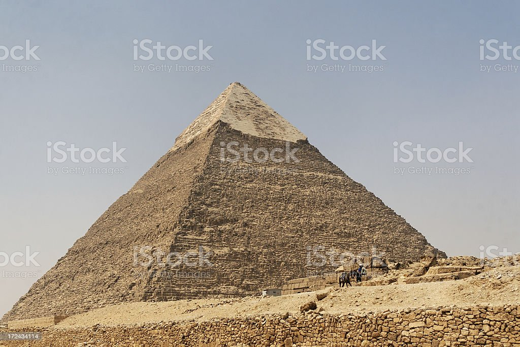 Pyramid of Chephren royalty-free stock photo