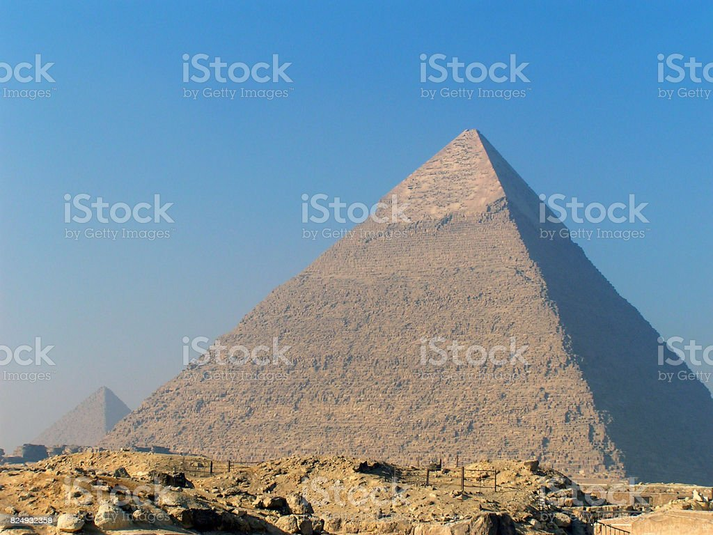 Pyramid of Chephren stock photo