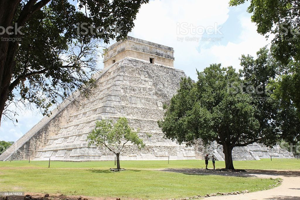Pyramid of Chichen Itza royalty-free stock photo