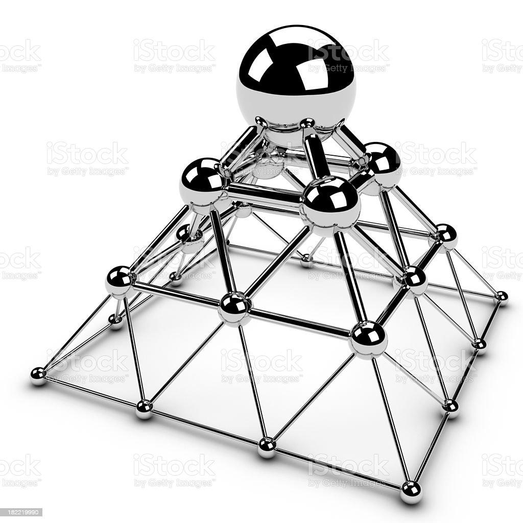 Pyramid of chrome spheres royalty-free stock photo