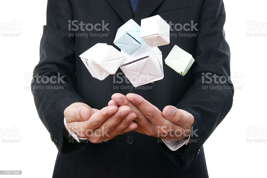 Pyramid of cubes royalty-free stock photo