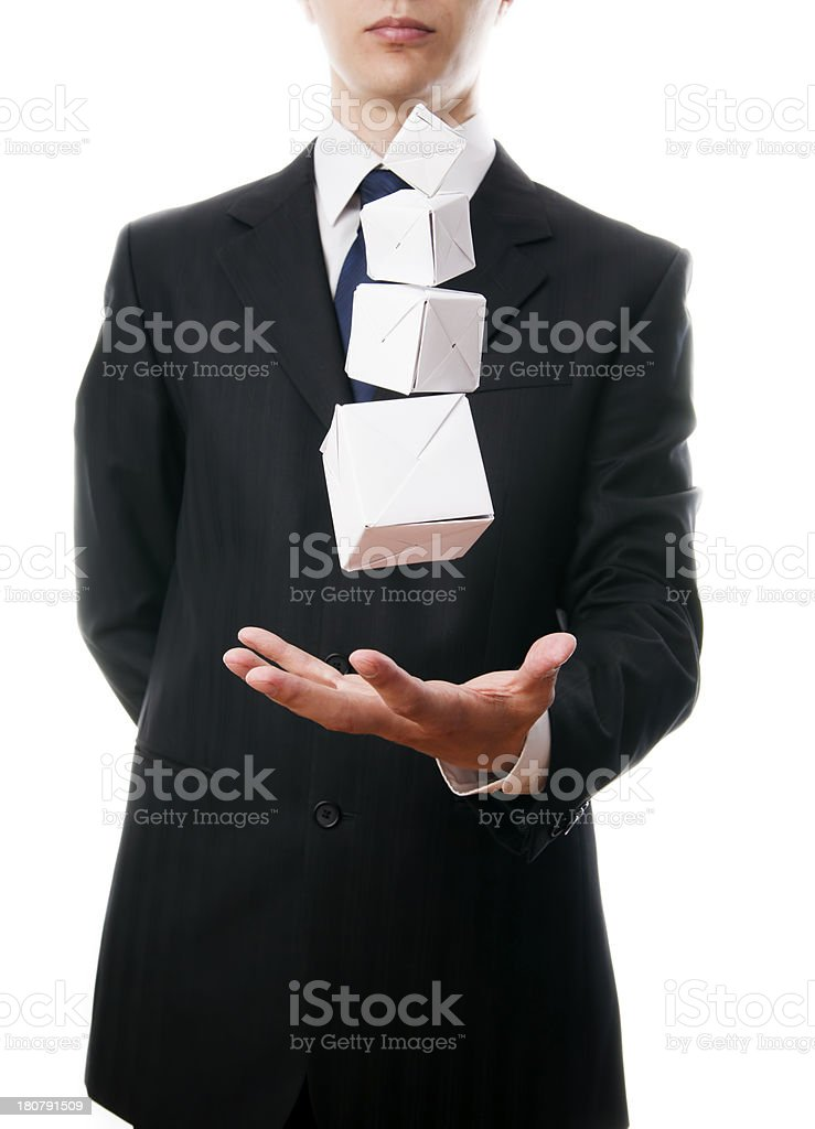 Pyramid of cubes royalty-free stock photo