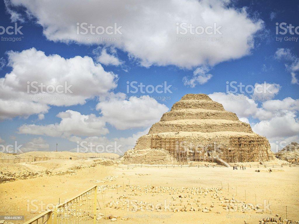 Pyramid of Djoser in Memphis, Egypt stock photo