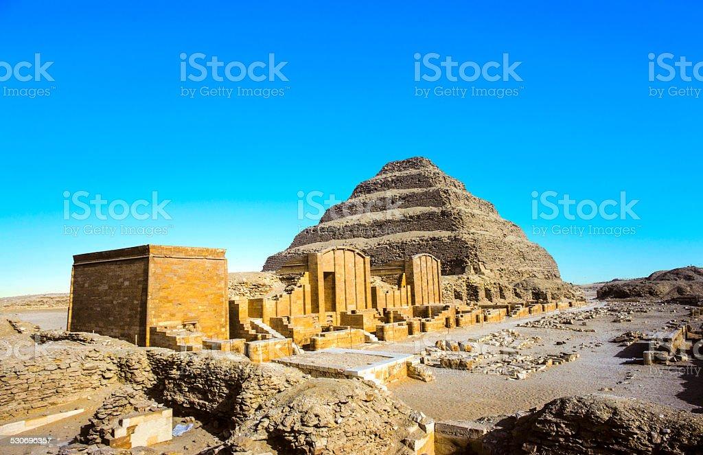Pyramid of Djoser in the Saqqara necropolis, Egypt stock photo