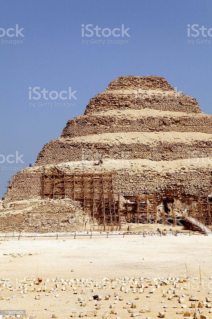 Pyramid of Djoser stock photo