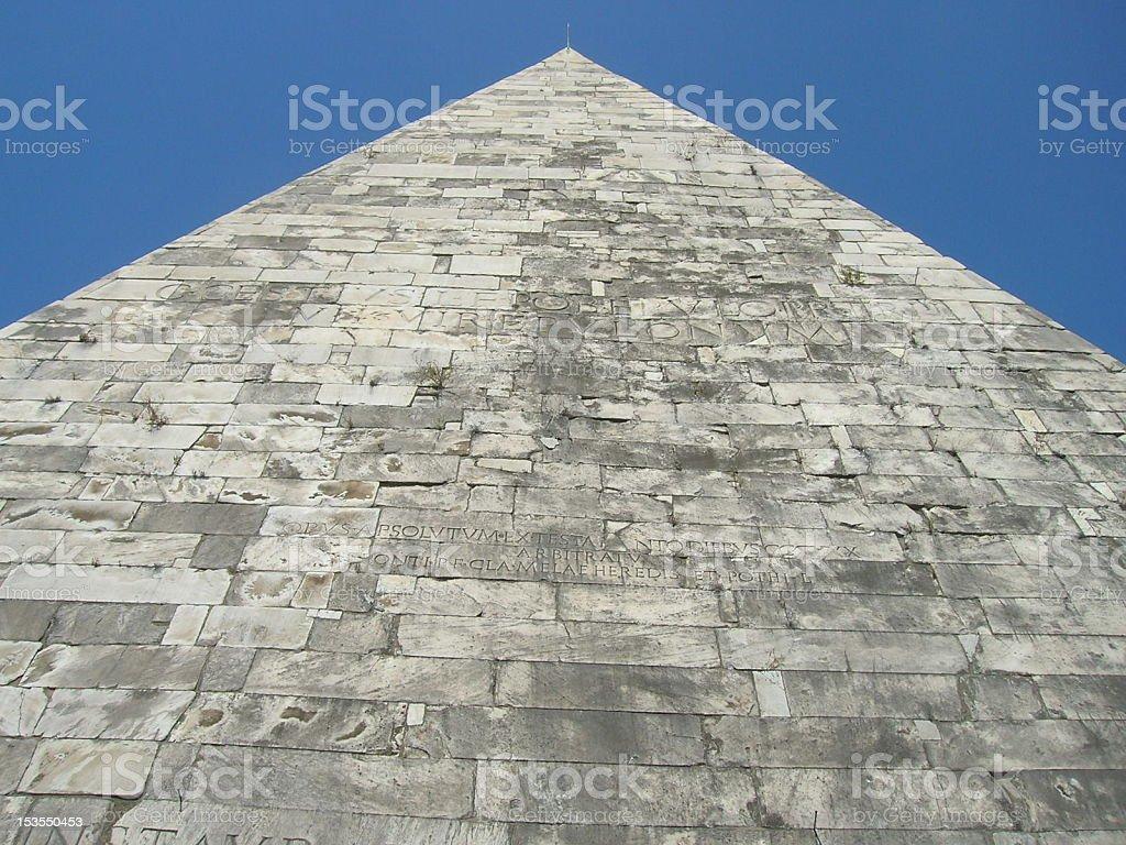 Pyramid of Gaius Cestius stock photo