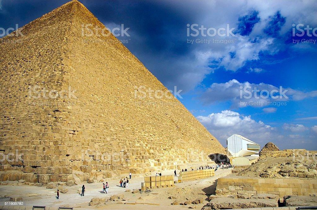 Pyramid of Giza stock photo