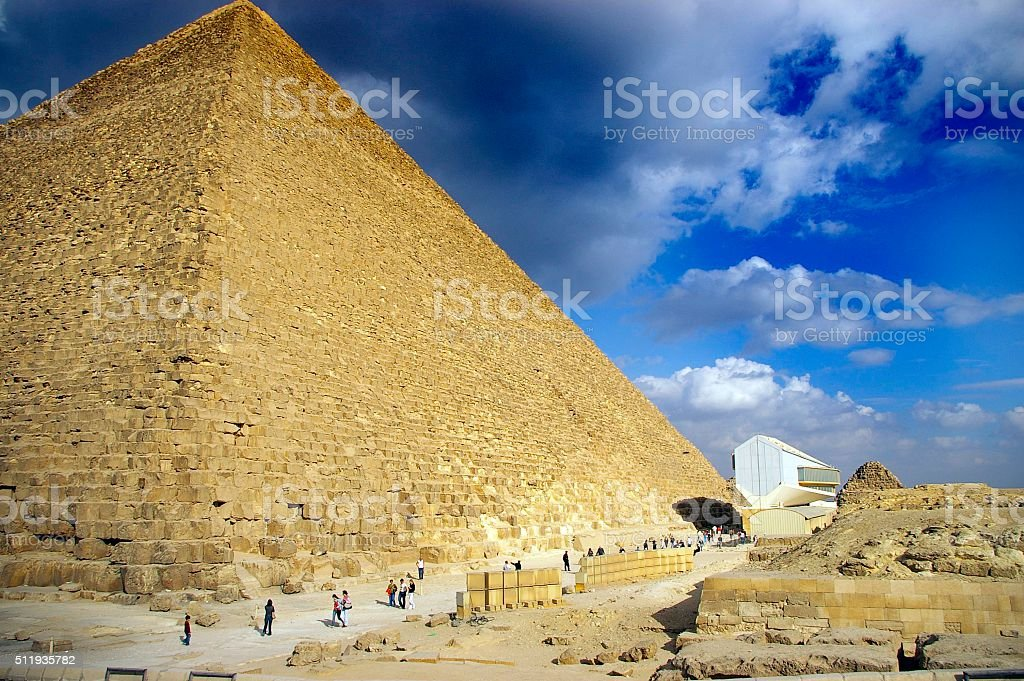 Pyramid of Giza stock photo