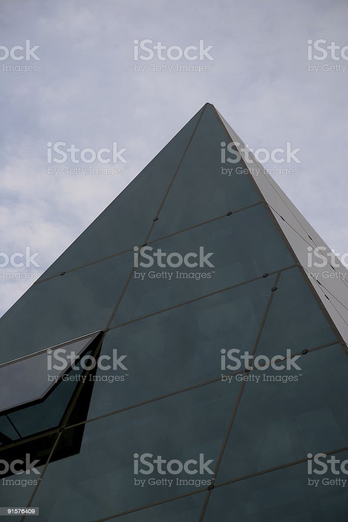 Pyramid of Glass stock photo