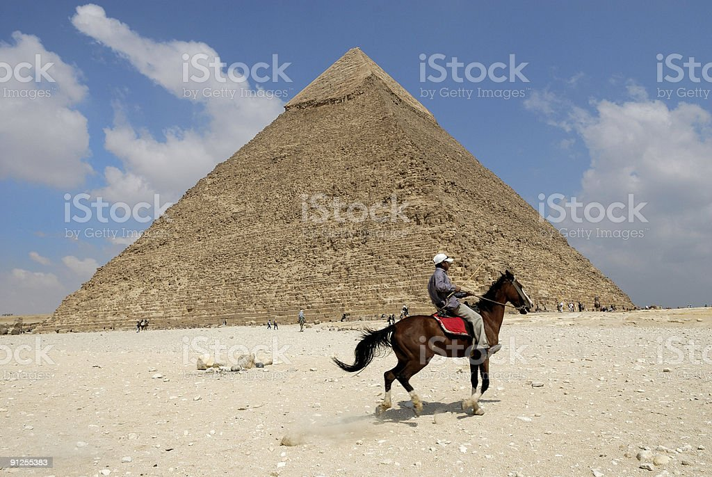 Pyramid of Khafra royalty-free stock photo