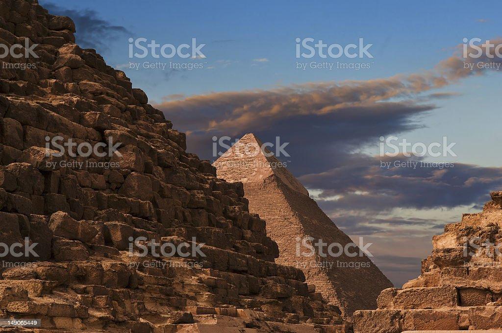 Pyramid of Khafre at Giza royalty-free stock photo