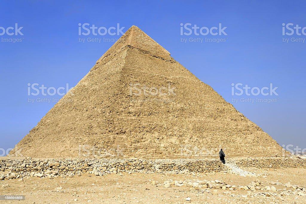 Pyramid of Khafre (Chephren), Egypt royalty-free stock photo