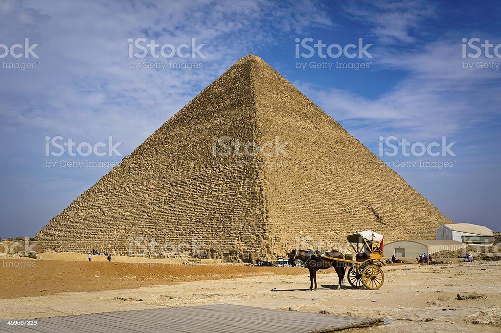 Pyramid of Khafre in Giza, Egypt royalty-free stock photo