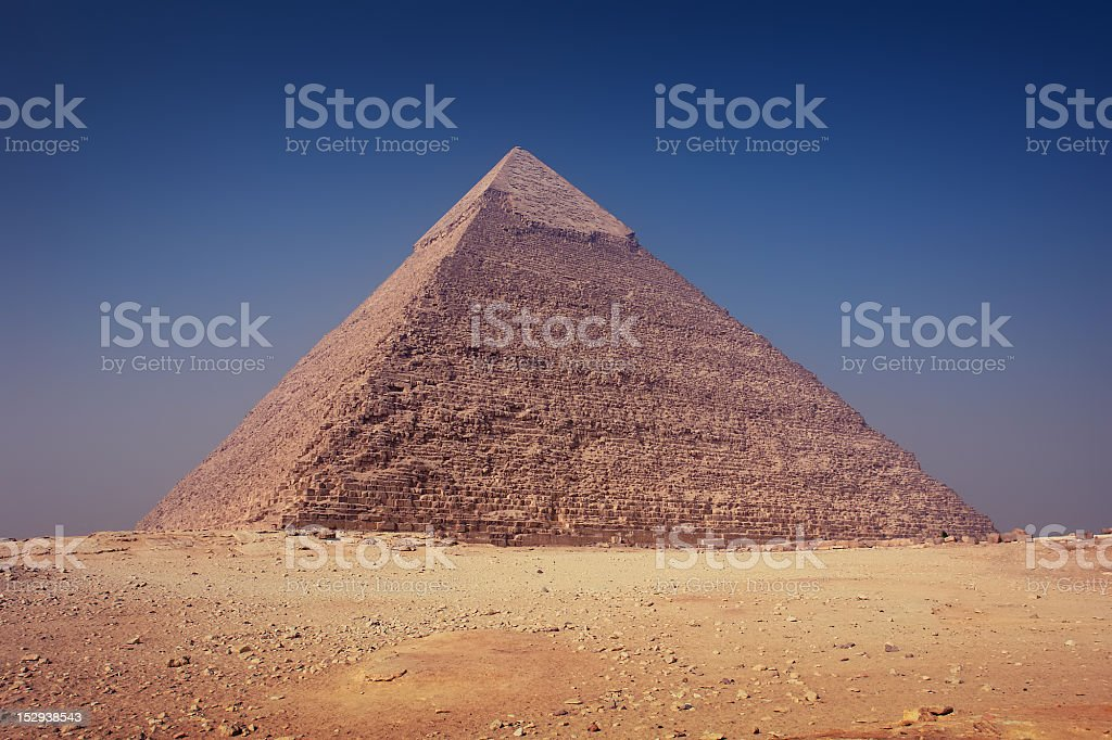 Pyramid Of Khafre (Chephren) stock photo