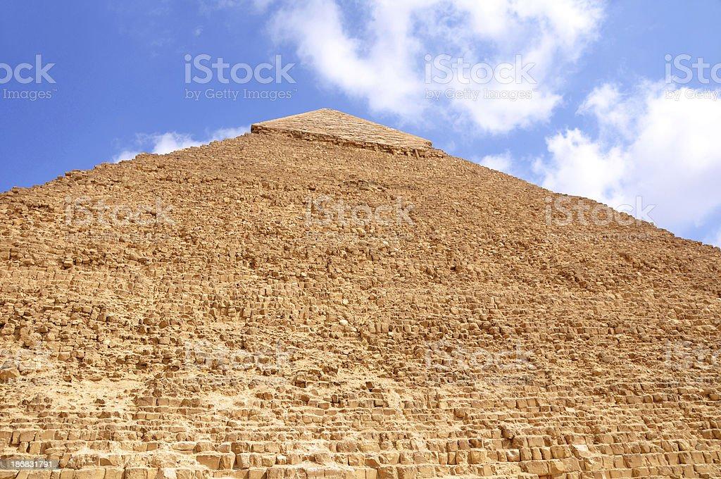 Pyramid of Khafre (Chefren) royalty-free stock photo