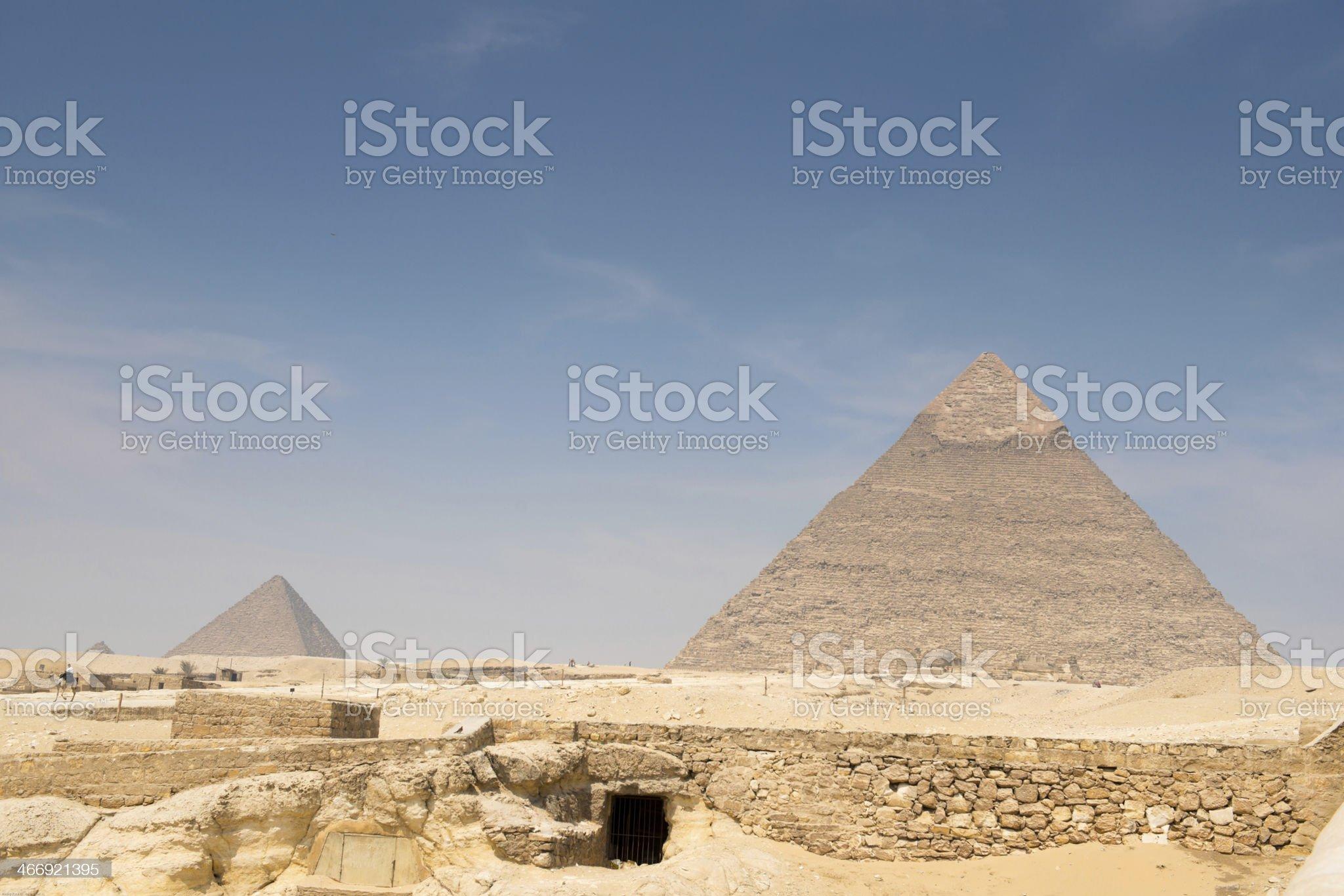Pyramid of Khafre royalty-free stock photo