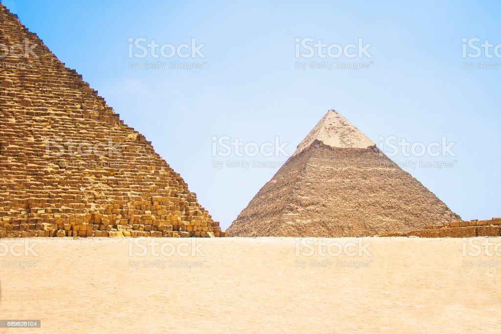Pyramid of Khafre. View of the Giza Pyramids. Egypt. Cairo. stock photo