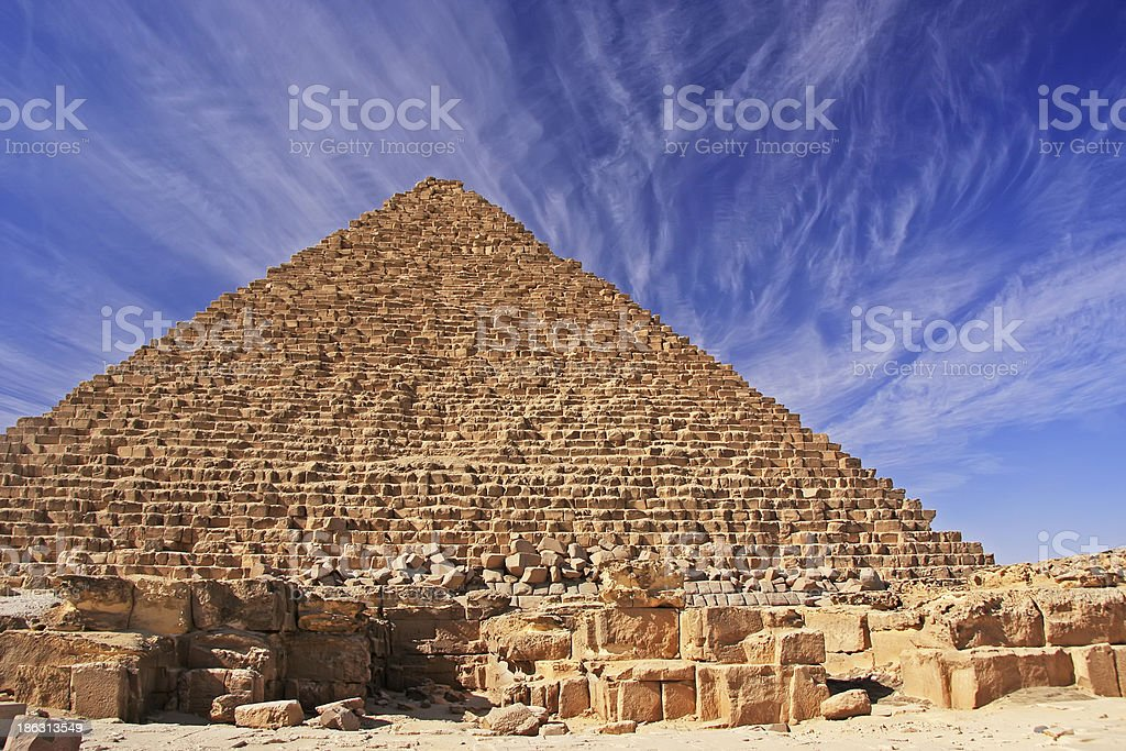 Pyramid of Menkaure, Cairo royalty-free stock photo