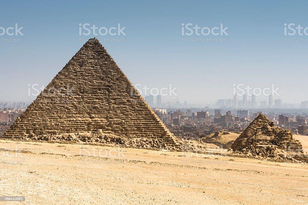 Pyramid of Menkaure, Giza (Egypt) stock photo