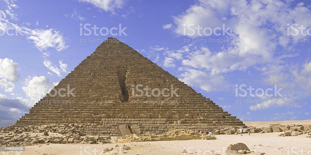 Pyramid of Menkaure royalty-free stock photo