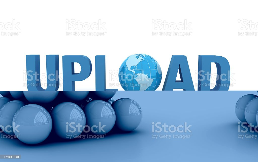 Pyramid of Spheres and One Red Top royalty-free stock photo