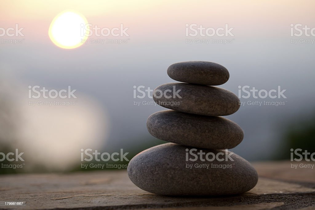 Pyramid of stones royalty-free stock photo