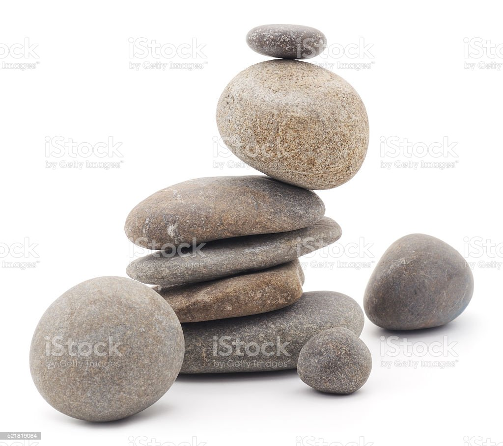 Pyramid of stones. stock photo