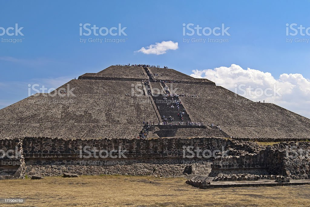 Pyramid of Sun in the city Teotihuacan, Mexico stock photo