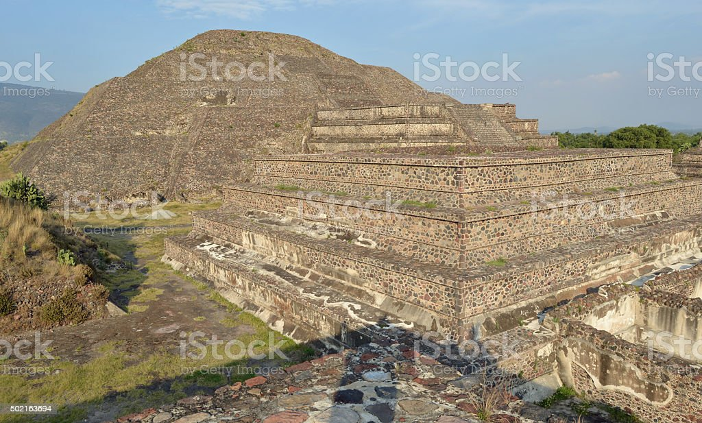 Pyramid of Teotihuacan, Mexico stock photo