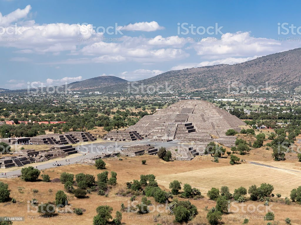 Pyramid of the Moon in Teotihuacan Mexico royalty-free stock photo