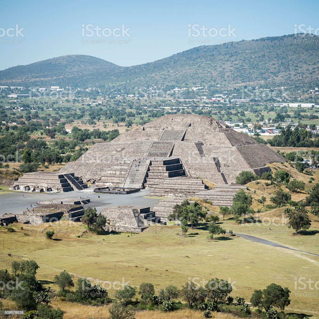 Pyramid of the Moon in Teotihuacan, Mexico stock photo