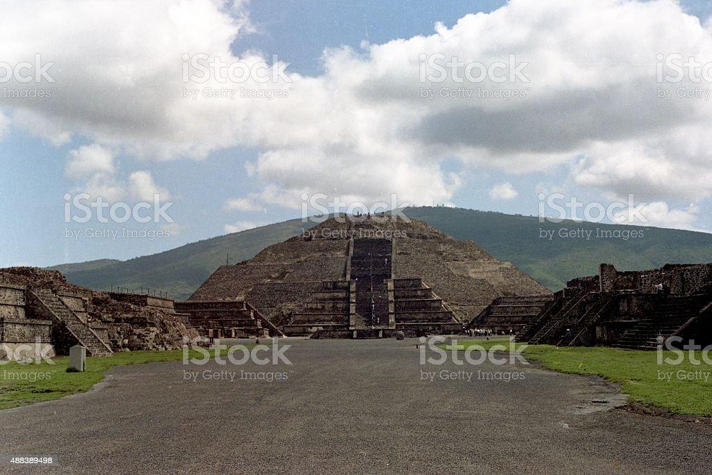 Pyramid of the Moon (Mexico) stock photo